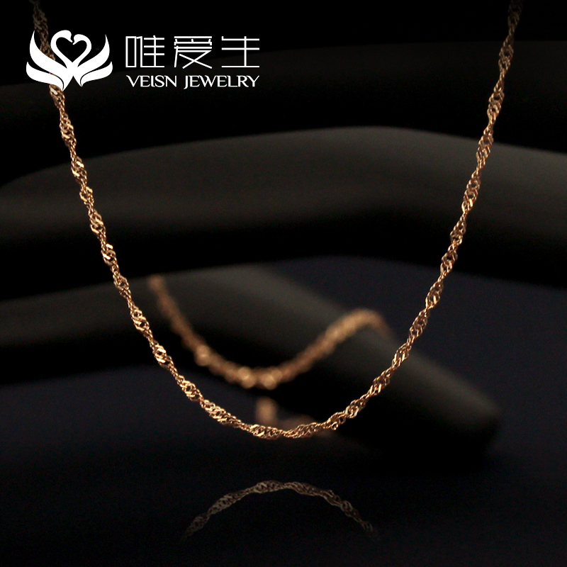 Only love k gold necklace water ripples necklace ms. clavicle chain necklace birthday gift to send his girlfriend a gift