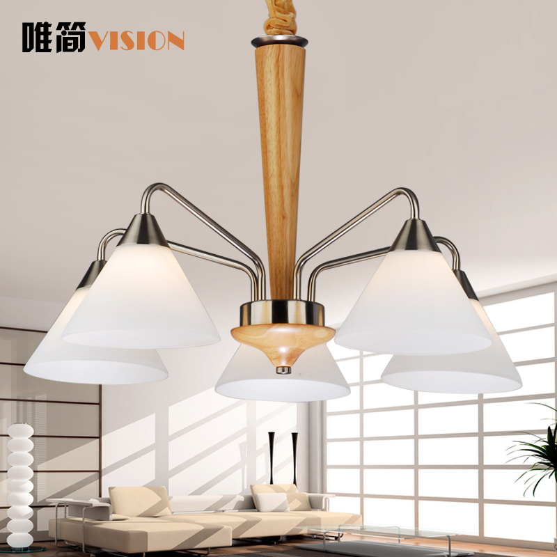 Only simple wood living room chandelier modern living room chandelier lamp minimalist living room chandelier pendant lamp wooden lamp h1318