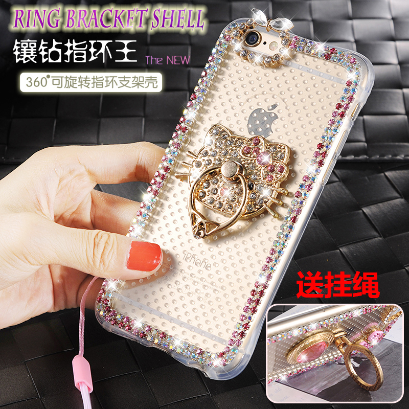 Oppo A31T/c phone shell mobile phone sets new diamond transparent a53tm a35 mobile phone shell sets of silicone stent lanyard female