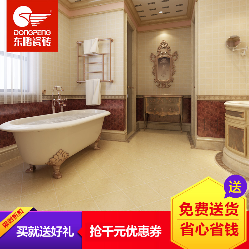 Orchard dongpeng tile glazed tile kitchen and bathroom fanghuadezhuan 66 tablets 210 tablets 5 metacarpals standard kitchen package