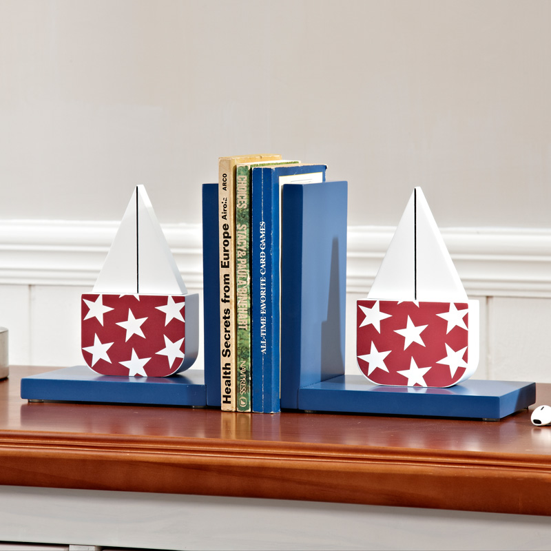 Original brand mediterranean sailing stars woodiness bookends ornaments children's room furnishings creative decorations ornaments
