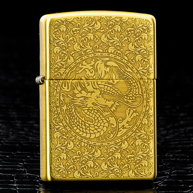Original genuine zippo lighter pure copper dragon and phoenix three genuine american original limited zppo