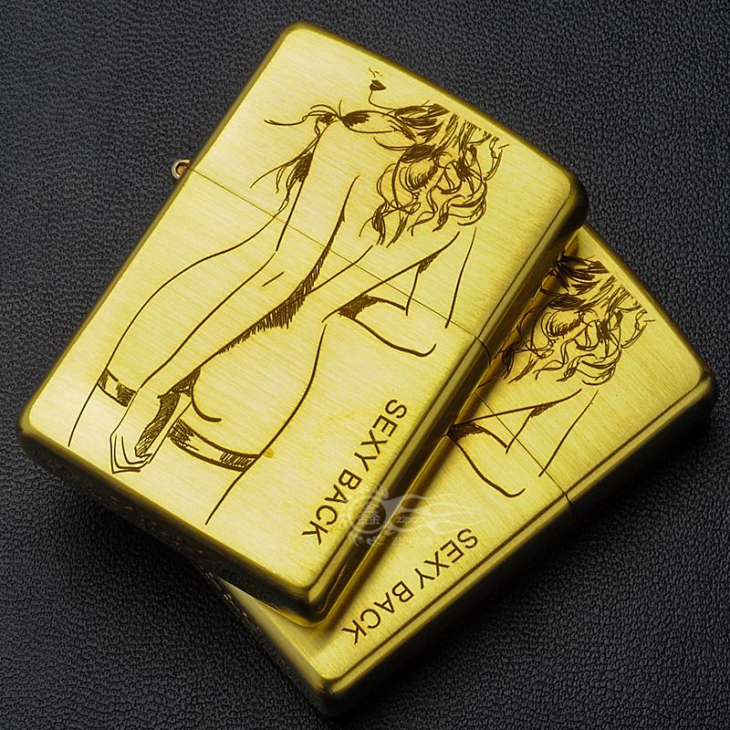 Original genuine zippo lighter pure copper etching limited edition genuine windproof zippo windproof kerosene beauty united states