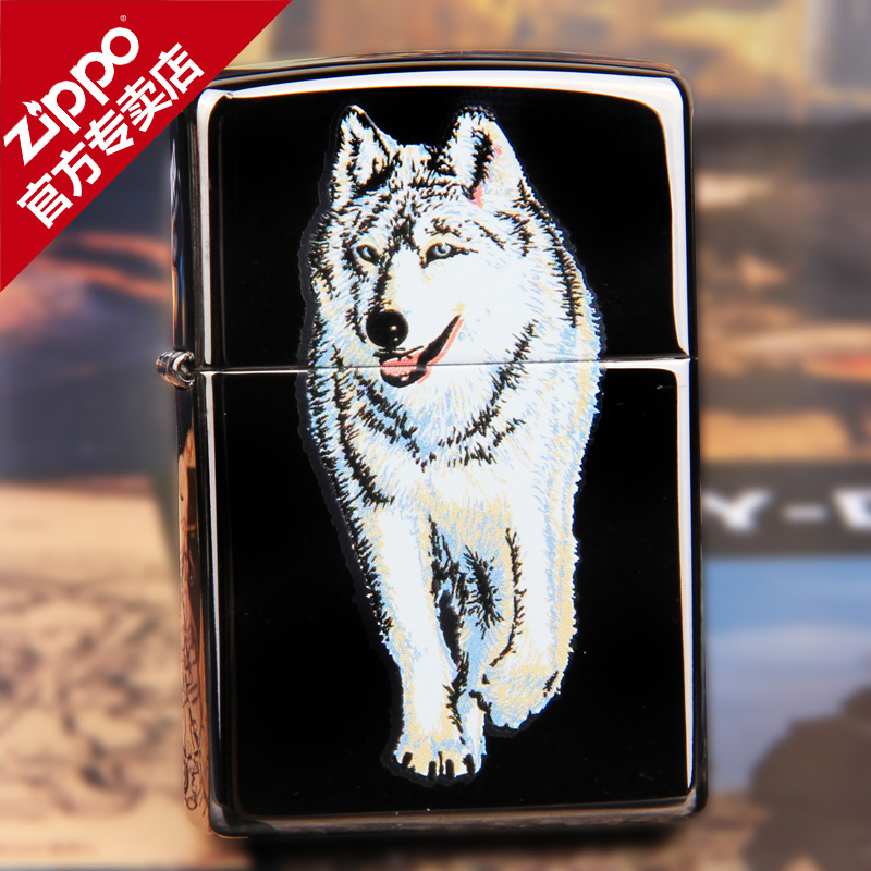 Original genuine zippo lighter windproof zippo lighter limited edition genuine classic black ice wolf 769