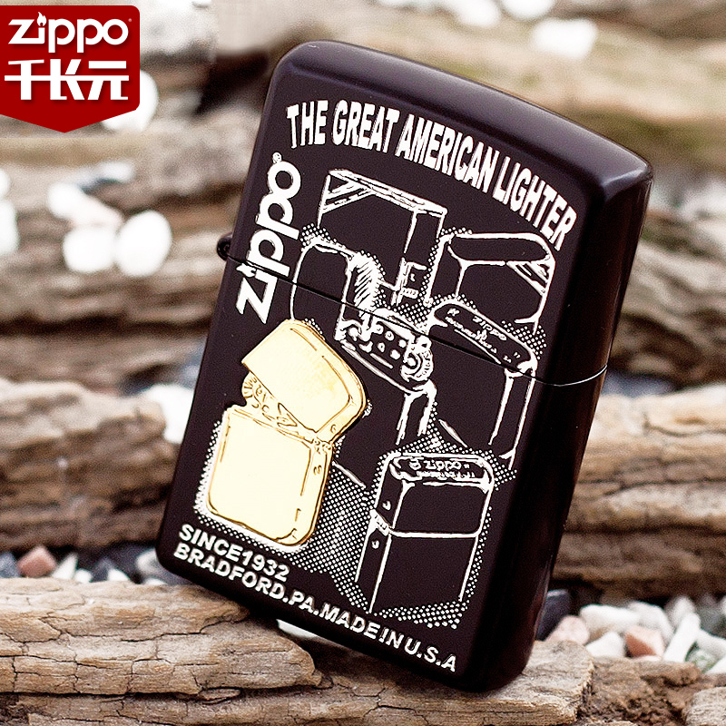 Original genuine zippo windproof lighter genuine zippo lighter japanese version posted chapter of the new 2bk-ltr