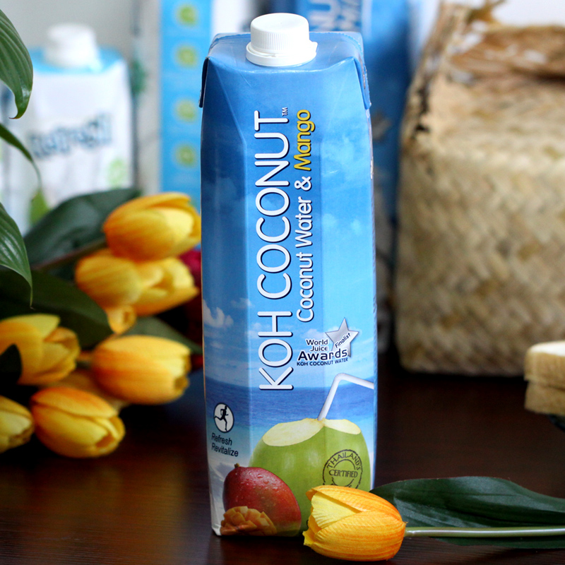 Original imported from thailand koh coconut cool coconut island coconut mango juice drink 1l