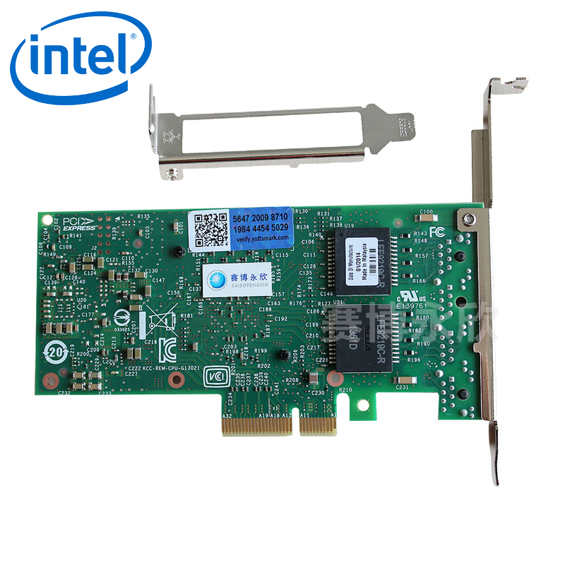 Original intel 4 gigabit ethernet server adapter intel i350-t4 server nic