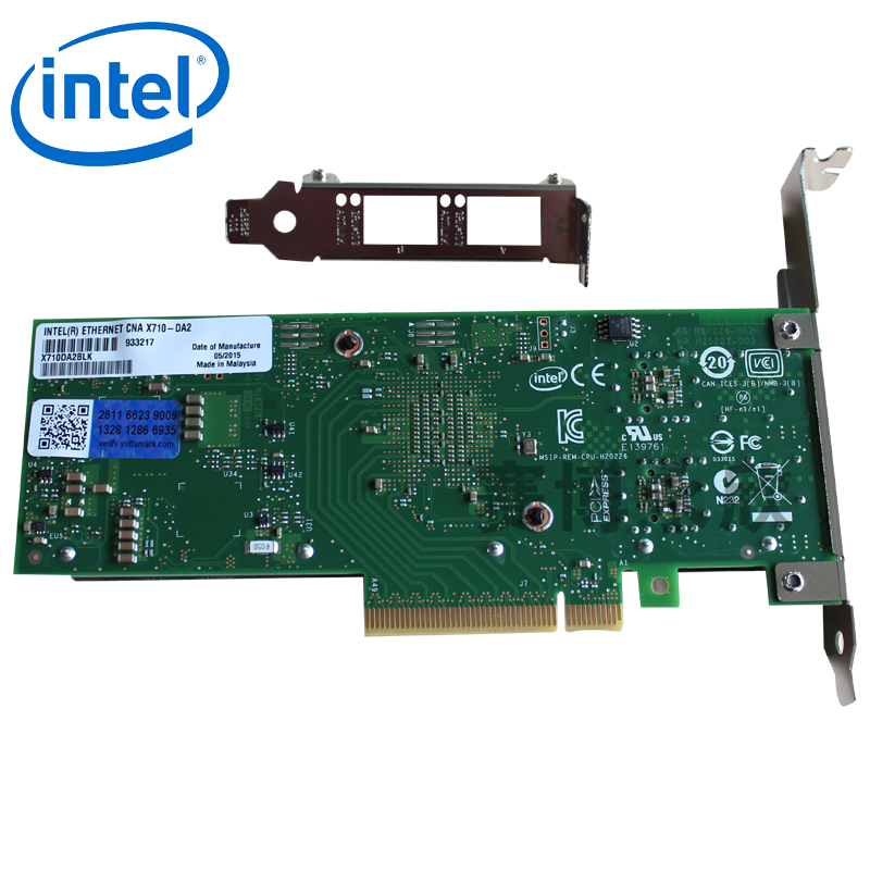 Original intel intel gigabit nic ethernet aggregation network adapter X710-DA2 licensed