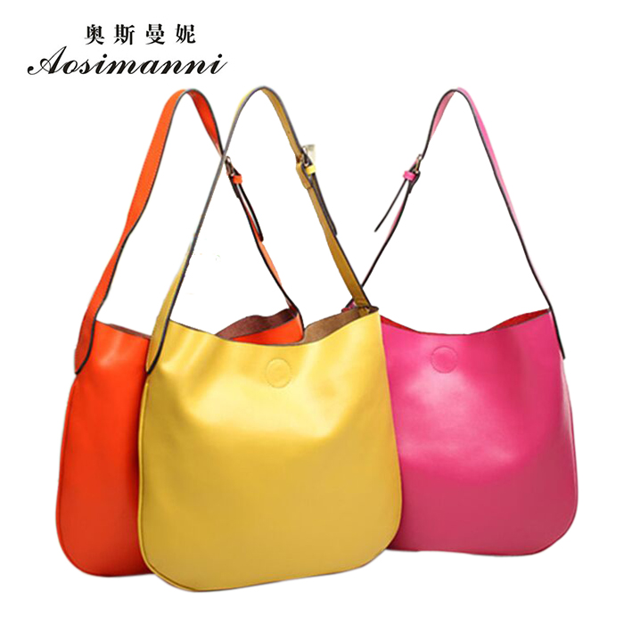Osmund borderies new leather bag picture second layer of leather handbags simple models leather handbags hand diagonal package