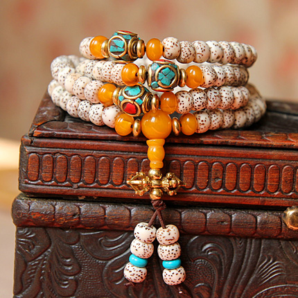 Oti shi a + lunar January颗high density xingyue bodhi bracelets 108 pu tizi rosary beads bracelet male and female necklace