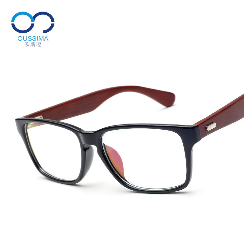 Ou simai wood frame glasses male and female models big box myopia glasses finished glasses frame glasses frame with myopia frames tide retro