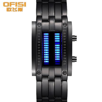 Oufei si watches led electronic table creative watches men watch women watch lovers watch students watch waterproof retro