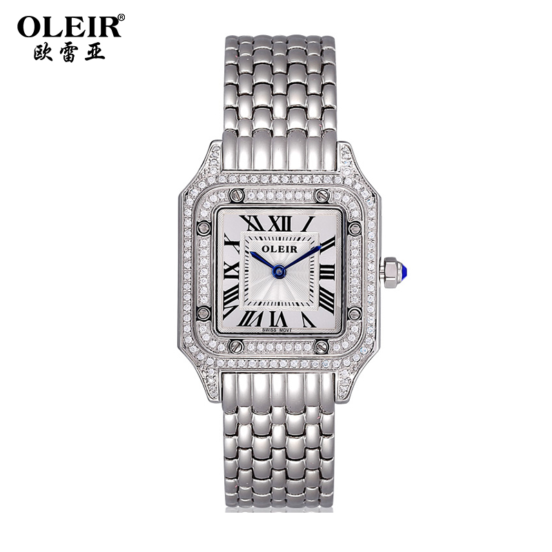 Oulei ya genuine new steel square steel diamond ladies watches fashion diamond ladies watch