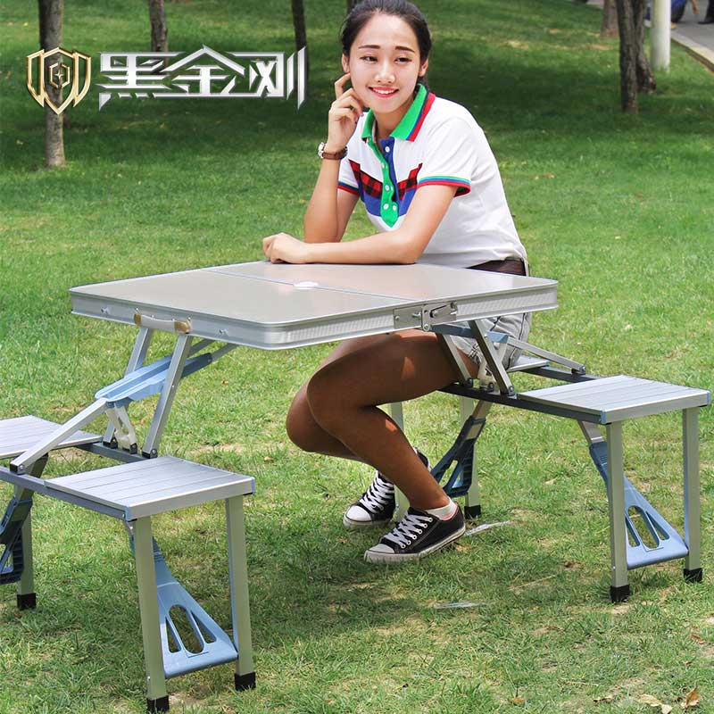 Outdoor aluminum folding tables and chairs portable camping portable barbecue picnic tables and chairs advertising the exhibition industry