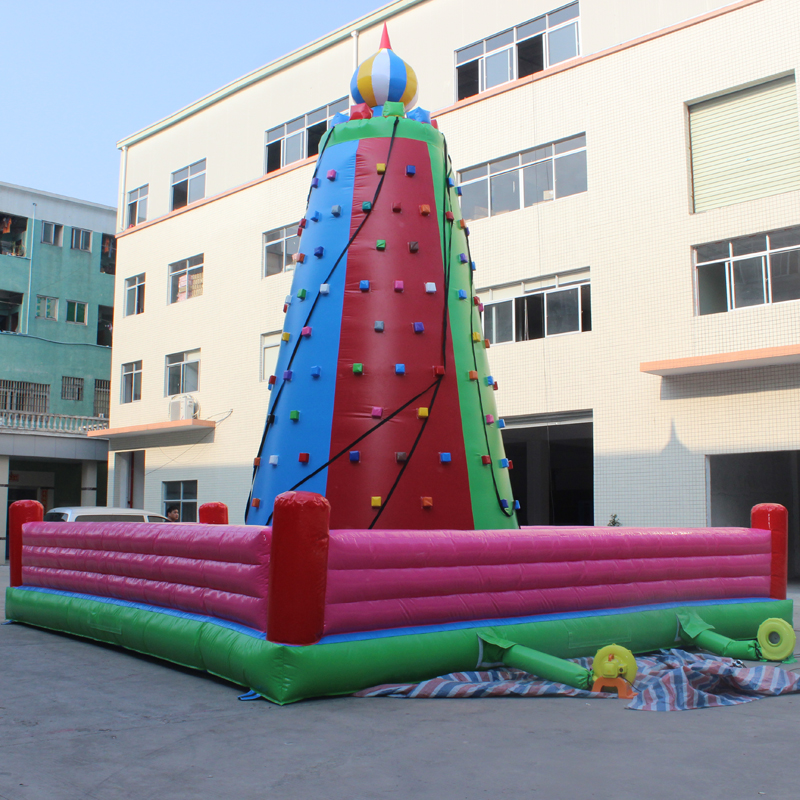 Outdoor plaza inflatable children's inflatable castle inflatable adult climbing rock climbing rock climbing large play equipment