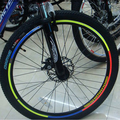 Outdoor riding bicycle wheel stickers reflective stickers mountain bike wheel reflective stickers stickers and more color dazzling lights