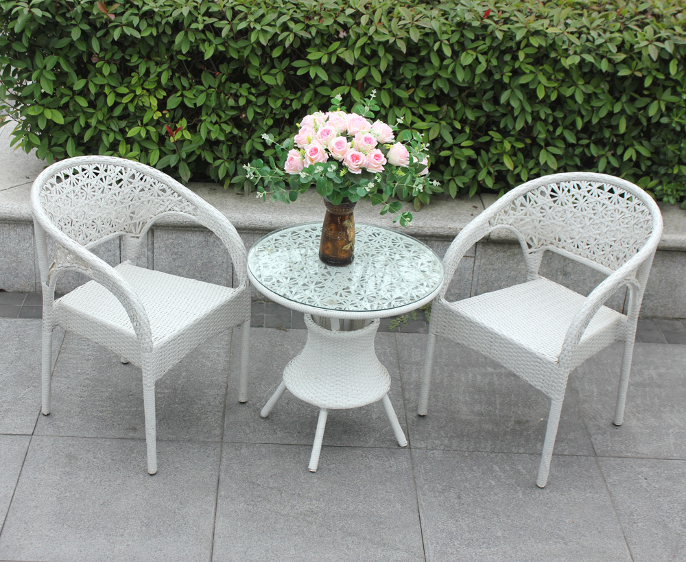 Outdoor wicker chair wicker chair three sets of five sets of five pieces small wicker chair wicker chair pe rattan leisure furniture suite balcony