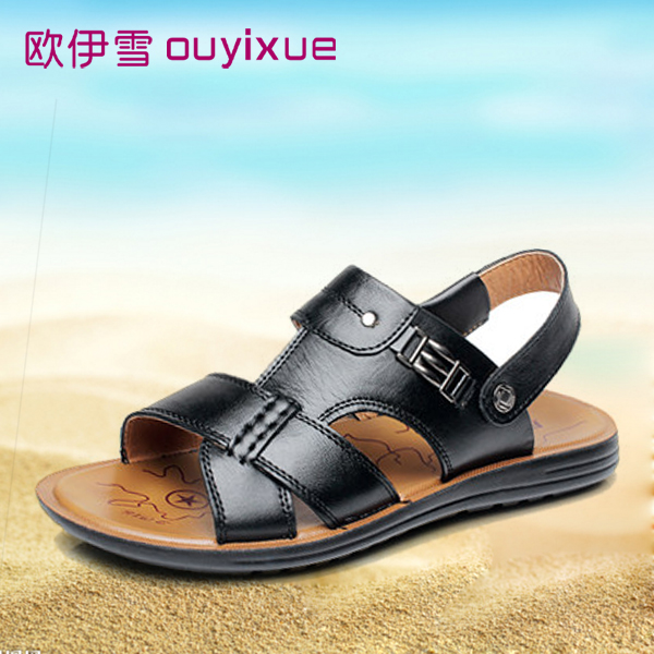 23930b455 Get Quotations · Ouyi snow 2016 new summer casual men s beach sandals  leather sandals stylish and comfortable sandals dad