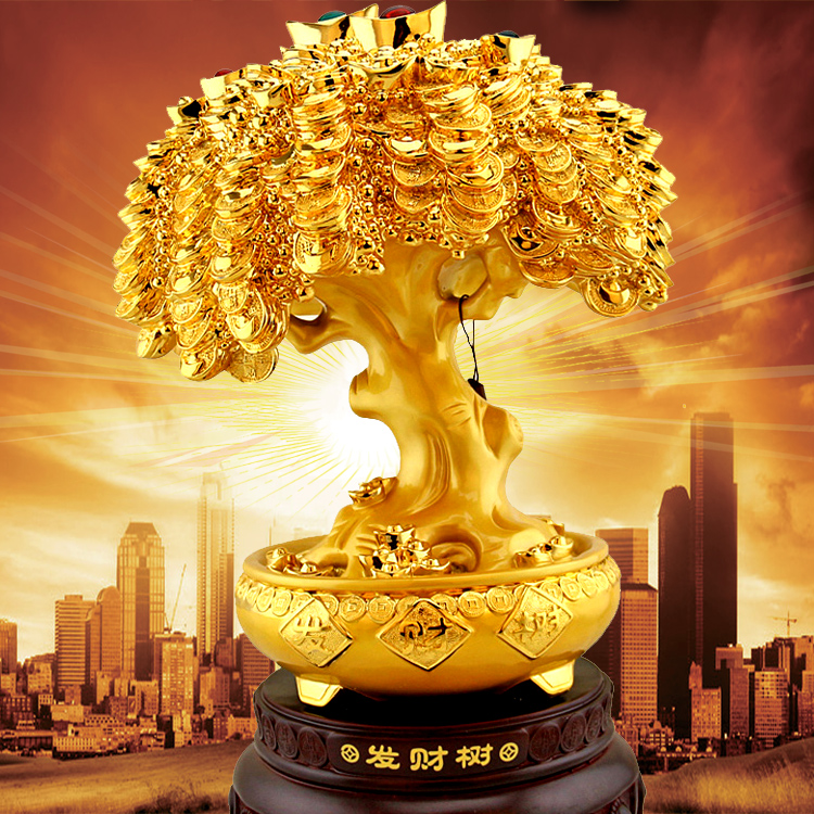 Pachira lucky tree opening gifts furnishings ornaments shake the money tree large living room with decorative company store opening gifts