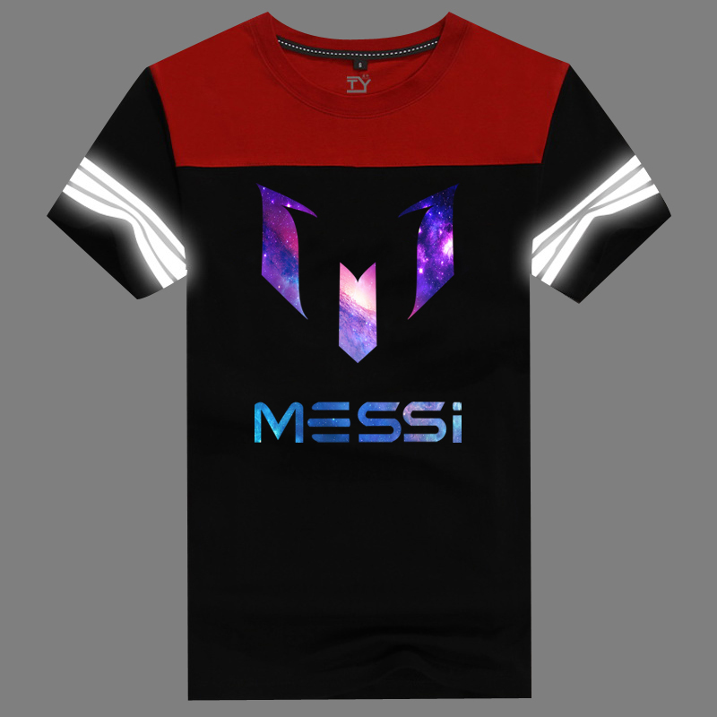e7bf935cd Get Quotations · Pain yang new cotton loose big yards short sleeve summer  sports teenagers messi lowfat empty series