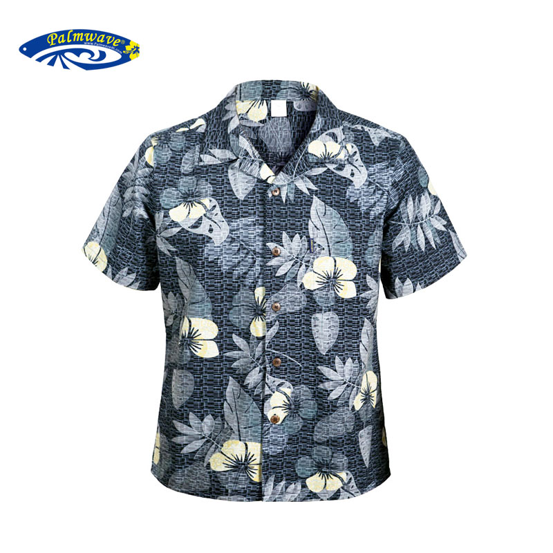 01aca0648c Get Quotations · Palm lang 2016 hawaii men's beach home leisure summer  vacation short sleeve shirt printing big yards