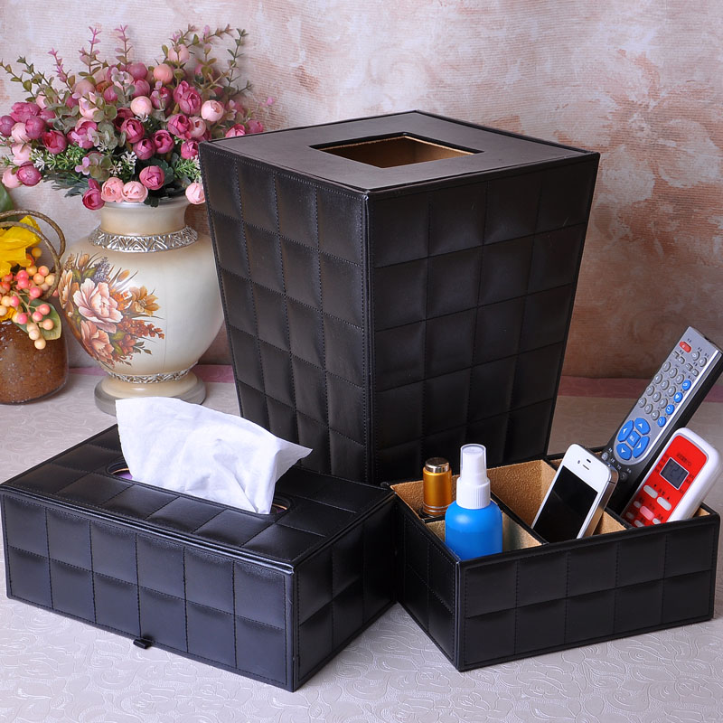 Pan ya leather tissue box tissue box pumping tray desktop storage bins debris box remote control storage box tissue box