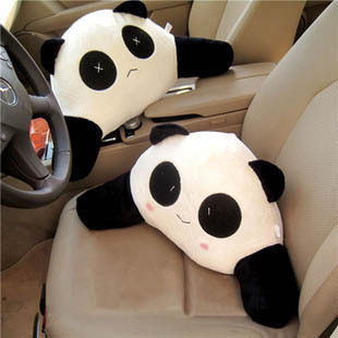 Panda pillow cushion car cushion lumbar cushion lumbar car waist lumbar pillow lumbar cushions car lumbar car waist pillow