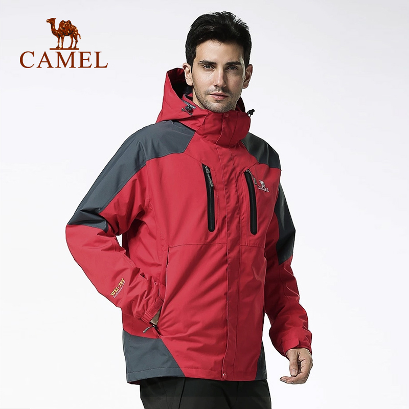 [Paragraph] camel outdoor triple jackets men waterproof windproof warm piece jackets