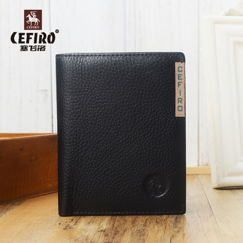 [Paragraph] designer cefiro wallet influx of young men short paragraph men wallet cowhide wallet vertical section