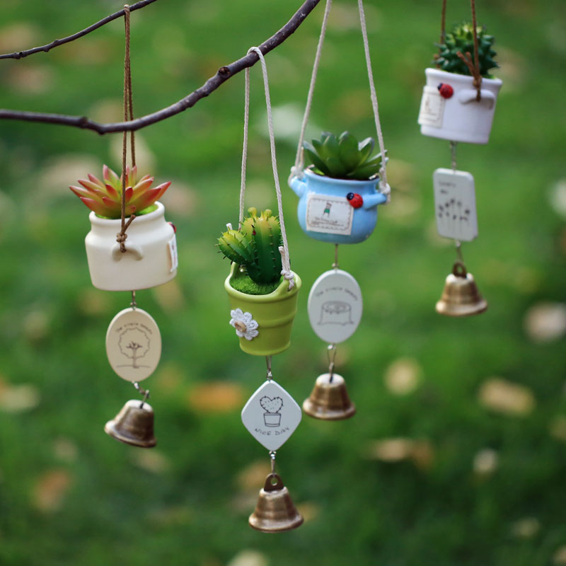 Pastoral style home window fan · makeup creative pendant ornaments wind chimes wind chimes japanese ceramic pots and more meat plants