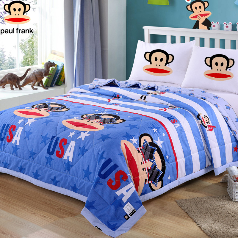 Paul frank/mouth monkey cotton quilt double summer is air conditioning in summer is cool in summer and washable children