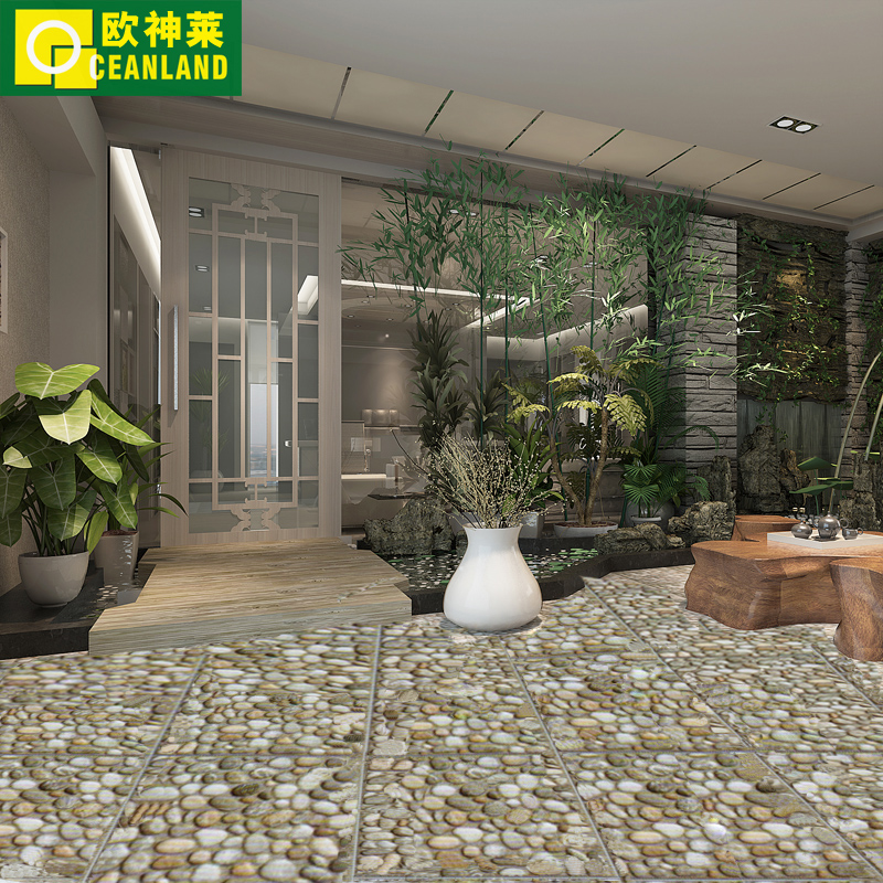 Get Quotations Pebble Tile 300 Kitchen Fanghuadezhuan Antique Brick Bathroom Floor Outdoor Patio Garden Geostrophy