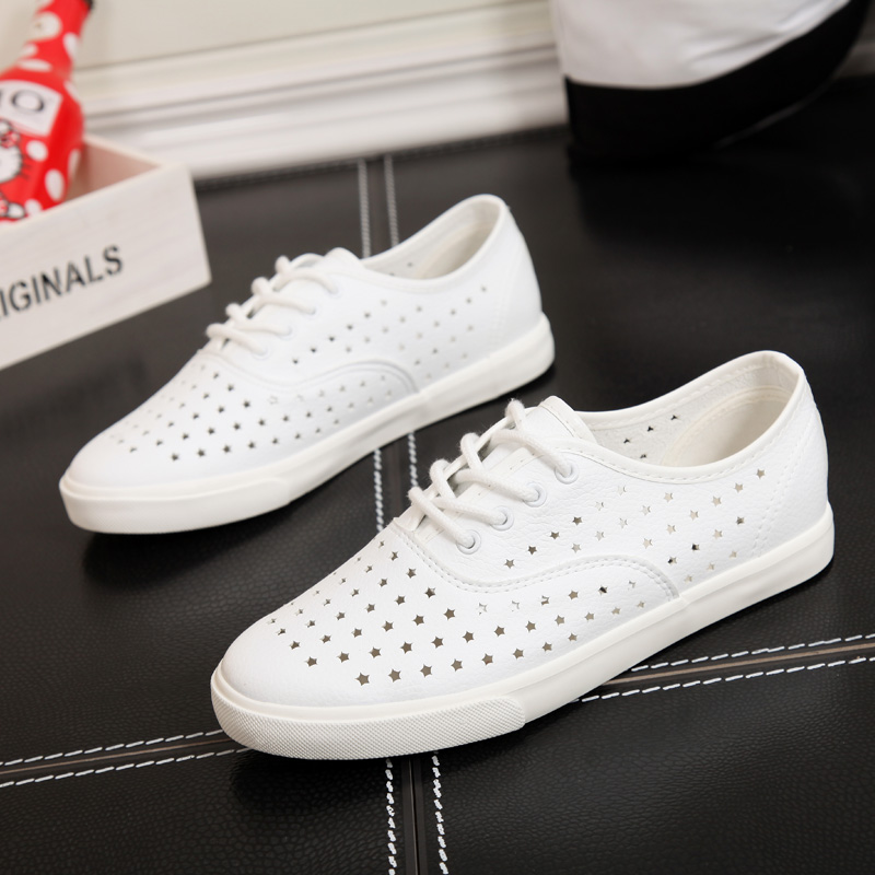 People in this summer new hollow breathable canvas shoes women shoes to help low canvas shoes women shoes to help low disposable leather nurse shoes women shoes