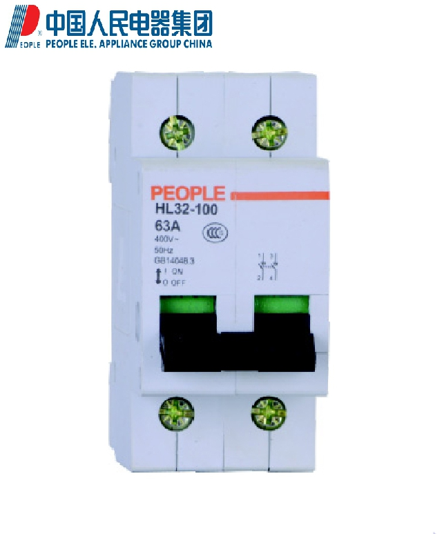 People people electric HL32-100 isolation switch 32a/40a/50a/63a/80a/100a 2 p