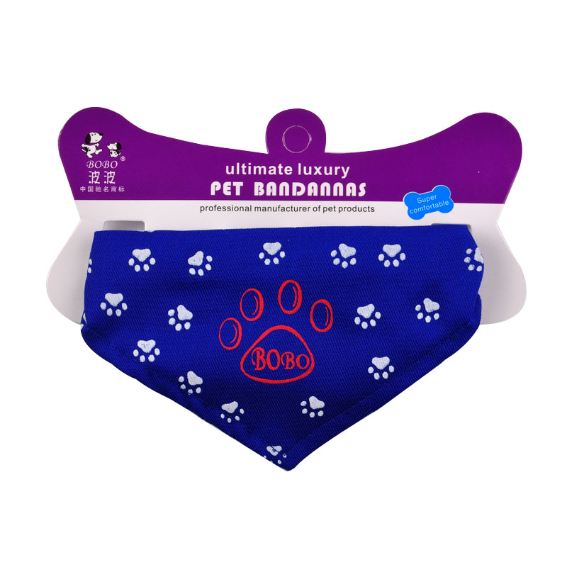 Pet footprints scarf bin taidi your small dog dog scarf bandage bibs bib collar