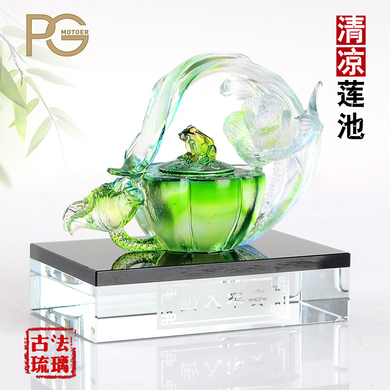 Pg frog lotus crystal perfume perfume car seat car ornaments car car interior supplies jushi supplies creative