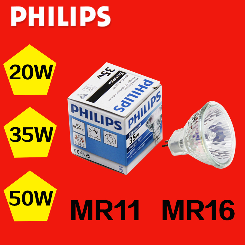 Philips halogen lamp quartz lamp bulb gu5.3 mr16 lamp cup mr11 spotlights/gu4
