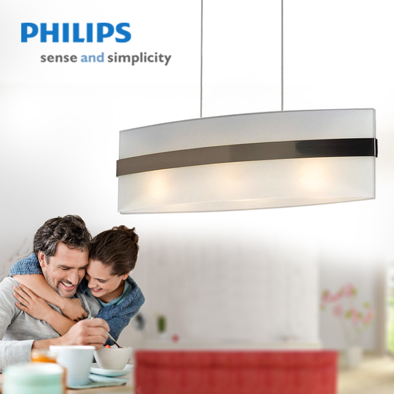 Philips led lights simple and stylish living room bedroom dining room den lights pendant chandelier qpg302 yu dai children