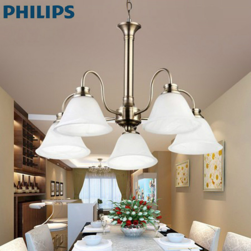 Philips lighting modern european restaurant dining room lights ceiling lights living room chandelier five bells droplight