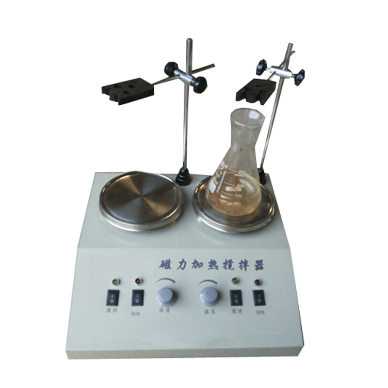Photosynthetic double corrosion resistant magnetic heating stirrer magnetic stirrer stepless speed two linked magnetic stirrer