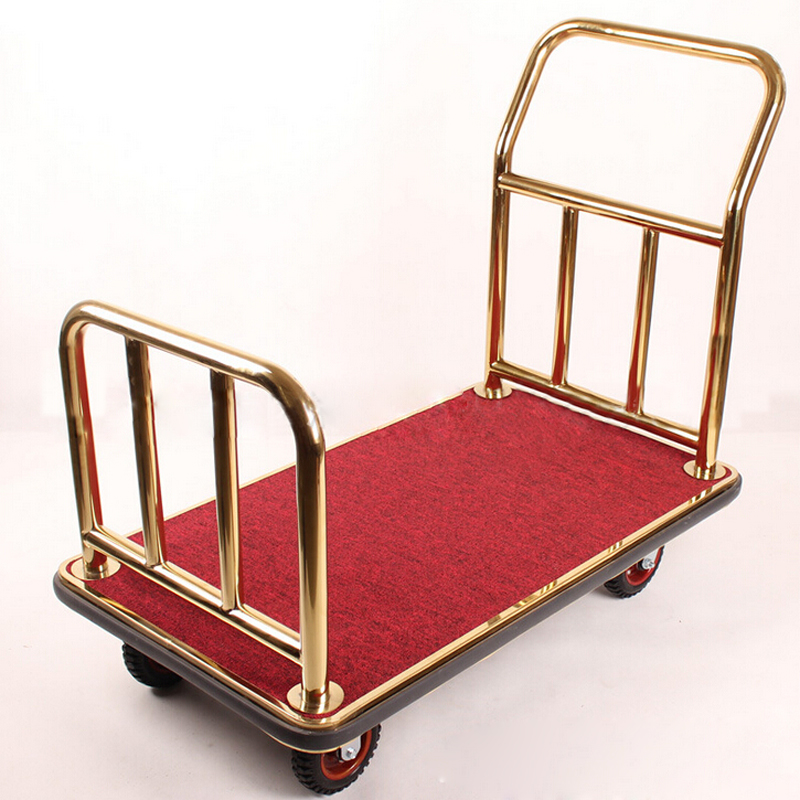 Photosynthetic heavy work service trolley car trolley car luggage cart in the lobby titanium touristswho luggage trolley car