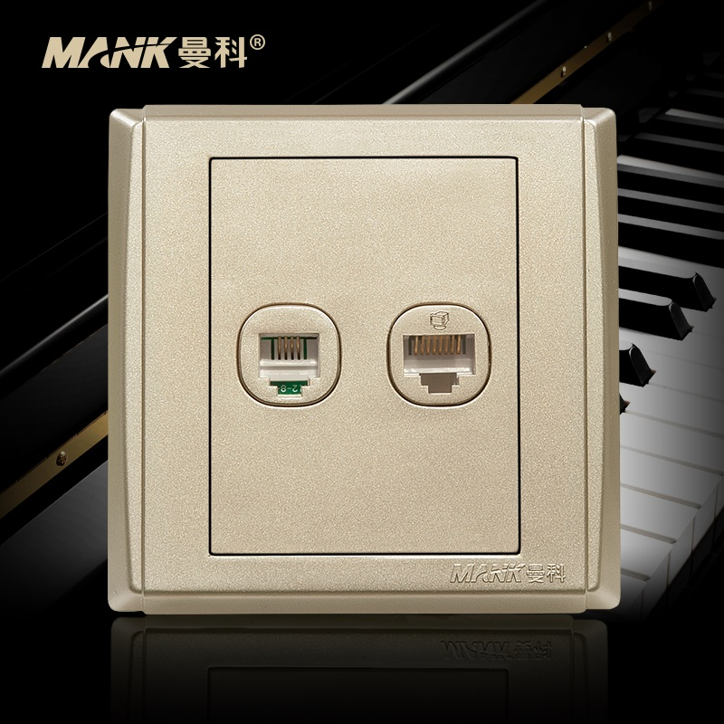 [Piano] manco switch socket panel phone computer panel 8 wall plug seat power cable outlet
