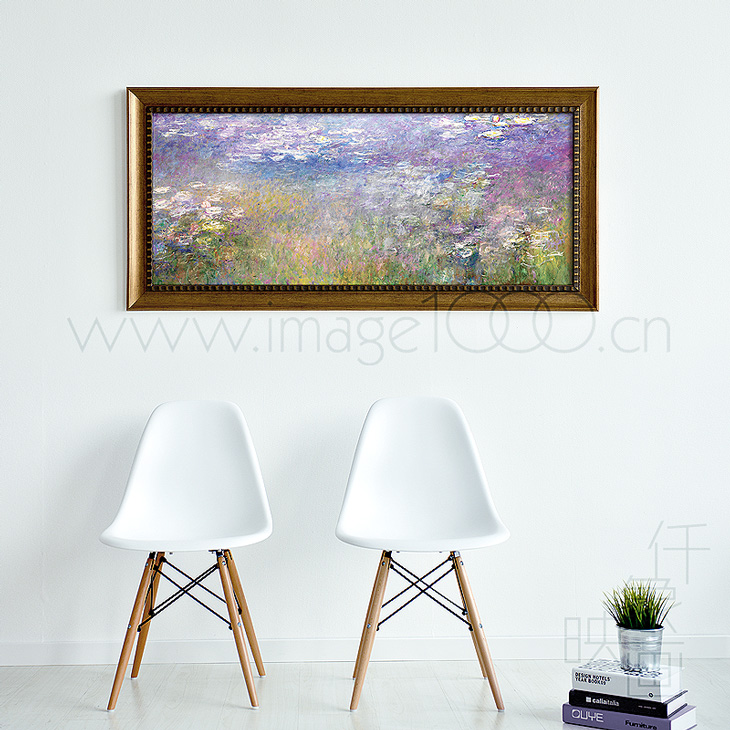 Pictures thousand like monet water lily painting purple restaurant entrance bedroom painting decorative painting the living room european style mural paintings painting