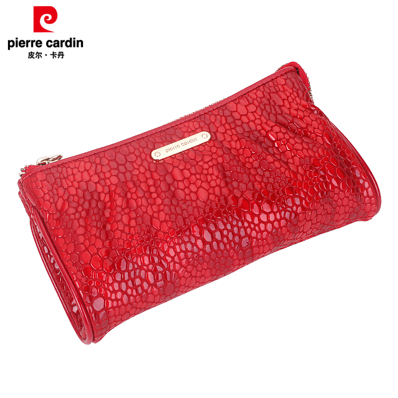 Pierre cardin ladies wallet female handbag leather zipper clutch handbag clutch bag korean version of the stylish simplicity