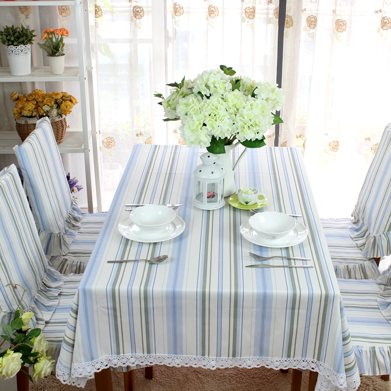 Pingguo house minimalist stripes striped table cloth table cloth coverings round tablecloth table cloth coffee table bugaboo