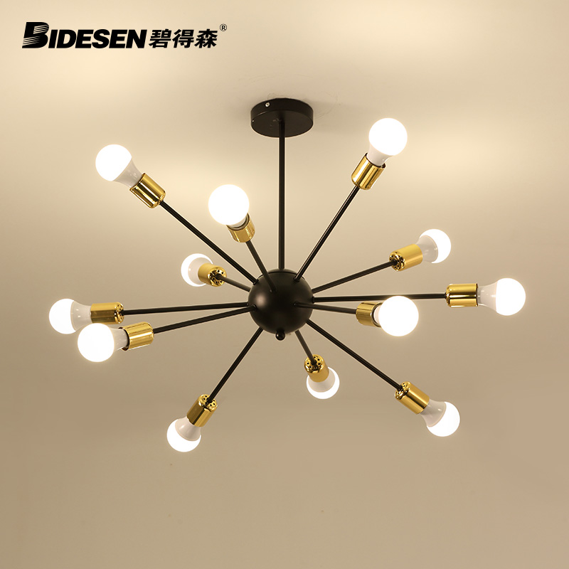 Pitt hudson nordic ikea creative designer living room chandelier wrought iron chandelier creative personality living room dining room chandelier art