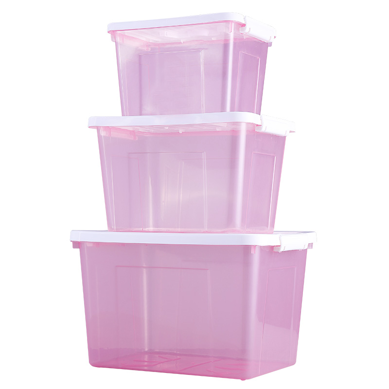 Plastic storage box storage box in a covered clothes sorting boxes thick transparent drawer desktop cosmetic storage box