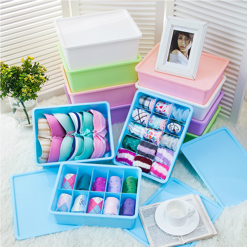 Plastic underwear storage box creative socks underwear storage box bra storage box thicker finishing drawer box