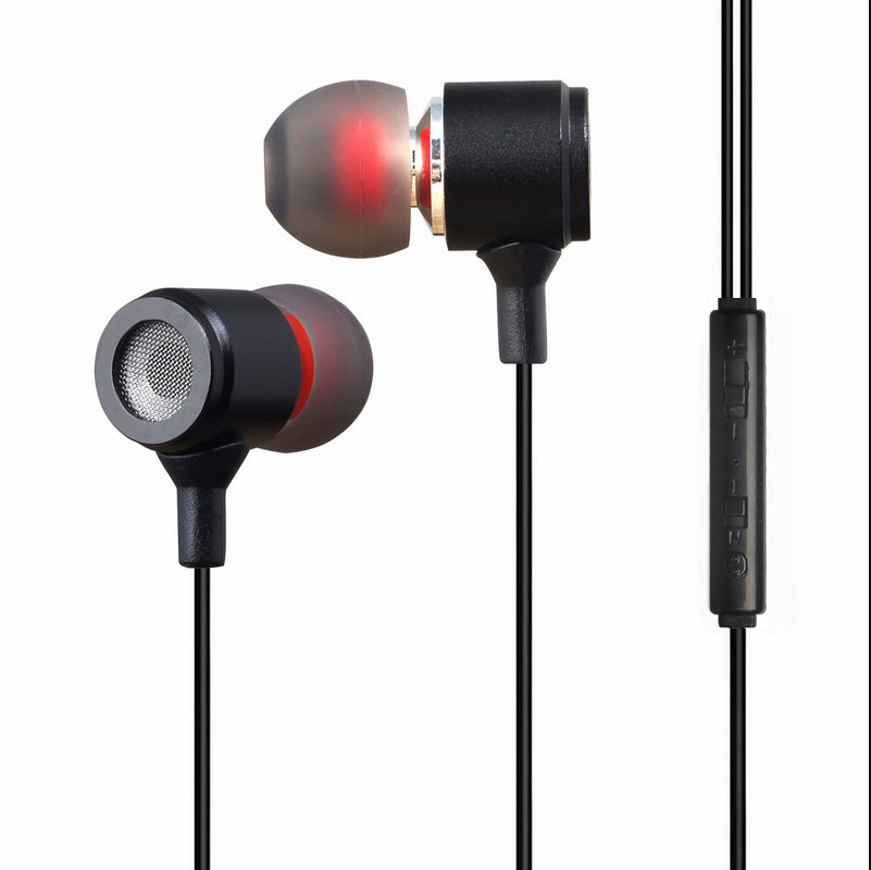 Plextone/pu remember x37m ear headphones universal mobile computer magic sound bass earbuds with wheat
