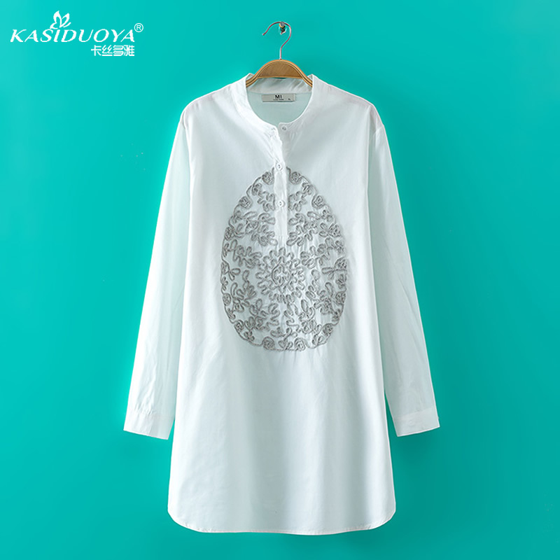 Vintage Embroidery Women Blouses Blouse Shirt Women Shirts XL Women  Clothing Summer Tops Blusas Femininas 2015-in Blouses & Shirts from Women's  Clothing ...